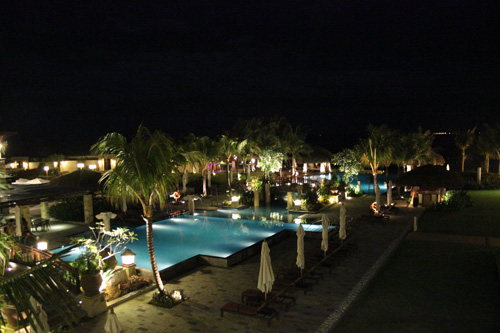 Crimson Resort and Spa at Night time